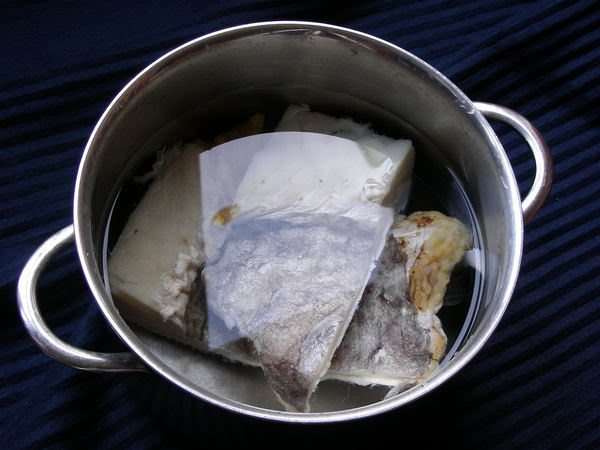 Salt Cod (soaking)  (photo © kiwidutch)