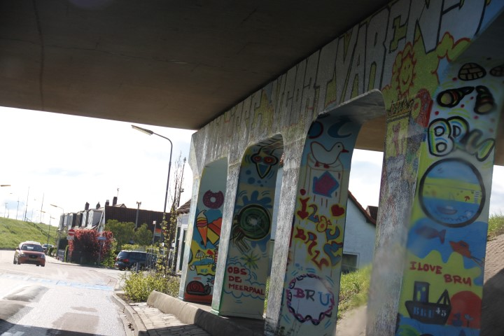 Bruinisse, Graffitti, Bridge, Overpass, Art